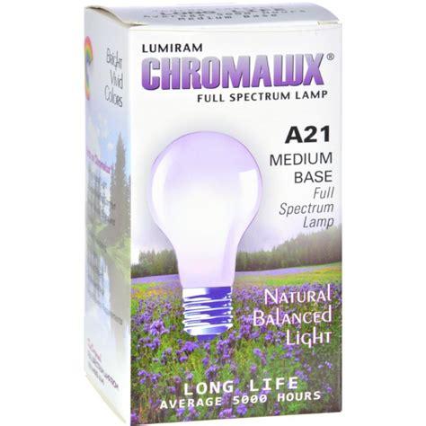 chromalux lumiram spectrum a21 75w clear light bulb