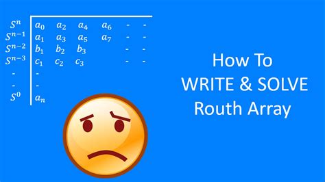 Routh Array Example | Routh Array Method - YouTube
