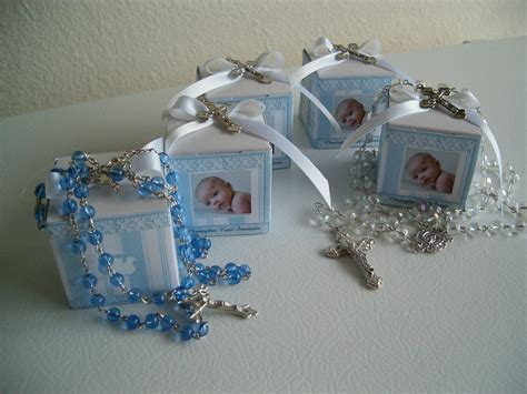 baptism rosary favor boxes personalized