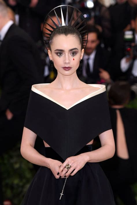 Lily Collins In Givenchy Couture @ 2018 Met Gala ...