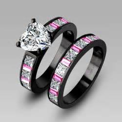 cheap real wedding ring sets white cubic zirconia black engagement ring wedding ring set for black rings with