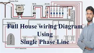Full House Wiring Diagram Using Single Phase Line