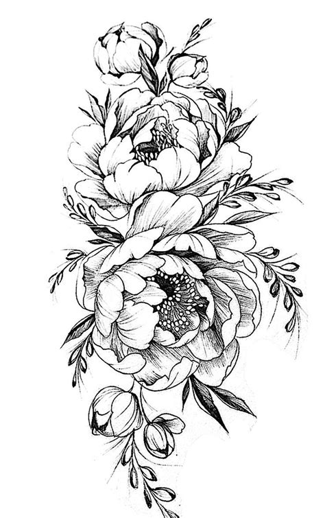 Pattern Flower Drawing With Colour Best 25+ Flower Tattoo Designs Ideas On Pinterest | Delicate
