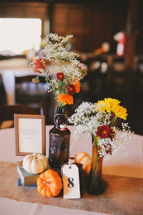 fall wedding centerpieces  fab mood wedding colours