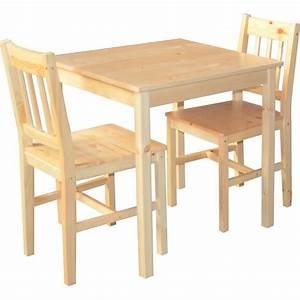 Table En Pin Massif : table de cuisine en pin massif 2 chaise palerme achat ~ Teatrodelosmanantiales.com Idées de Décoration