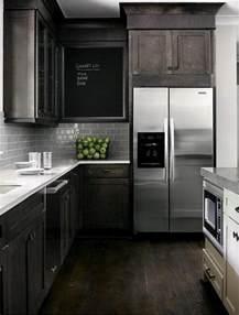 i love dark black brown cabinets stainless steel