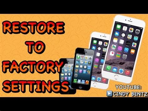 how to reset iphone 5c how to restore iphone 5 5c 5s 6 6 plus to factory settings