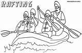 Raft Coloring Pages Rafting Drawing Getdrawings Colorings sketch template