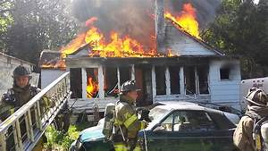 House Fire With Firefighter Evacuation
