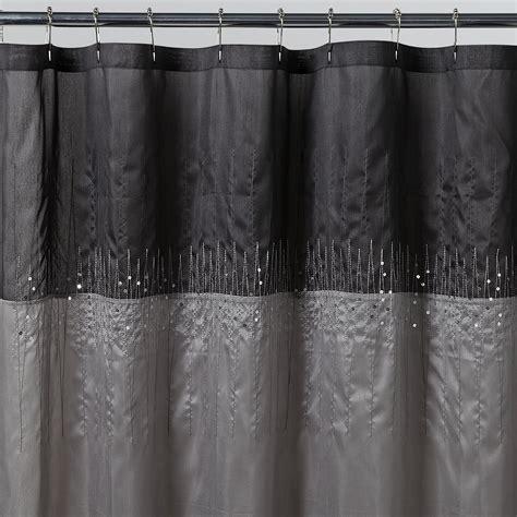 silver shower curtain essential home disco silver fabric shower curtain