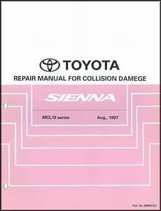 2001 Toyota Sienna Repair Shop Manual Original Set