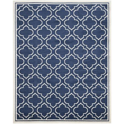 9 X 9 Outdoor Rug by Safavieh Moroccan Navy Ivory Indoor Outdoor Area Rug