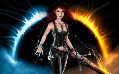 Warrior Woman Desktop Female Laptop Fantasy Widescreen