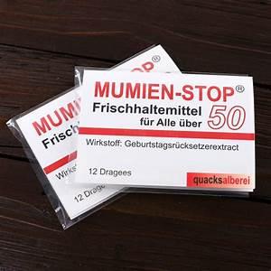 Geschenk Für 50 Geburtstag : kaugummi mumienstop zum 50 geburtstag ~ Jslefanu.com Haus und Dekorationen