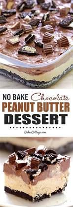 No Bake Chocolate Peanut Butter Dessert   Cakescottage