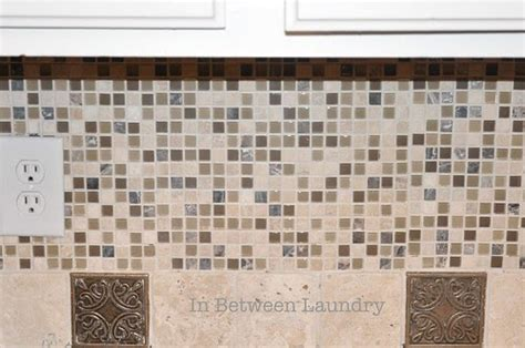 How To Install A Mosaic Tile Backsplash In The Kitchen by In Between Laundry Tutorial How To Install A Mosaic Tile