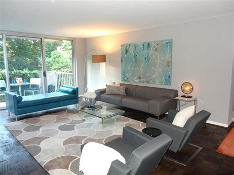 Zimmer Grau Blau by Gray And Blue Modern Living Room By J Allen The Neutral