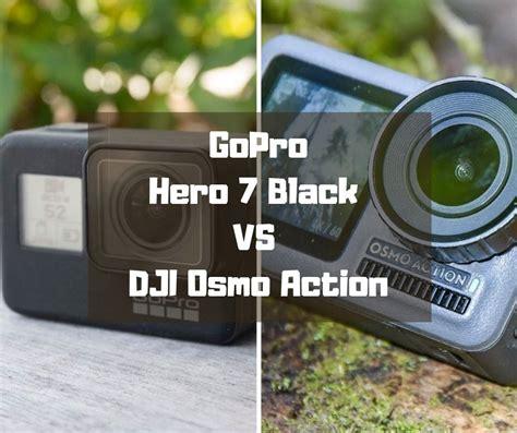gopro hero black dji osmo action