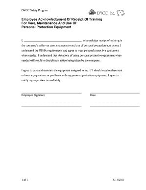 acknowledgement form fill  printable fillable