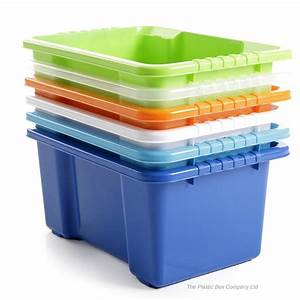 10lt Stack And Store Plastic Storage Box Pack Of 5