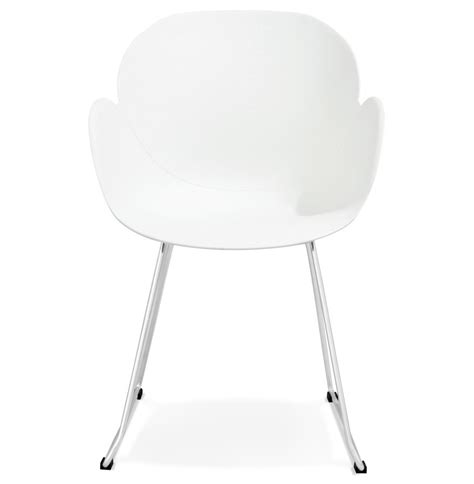 chaise plastique blanche chaise design nego blanche chaise en matière plastique
