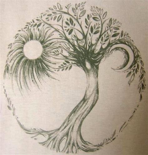 tattoo trends amazing grey ink hippie tree tattoo design