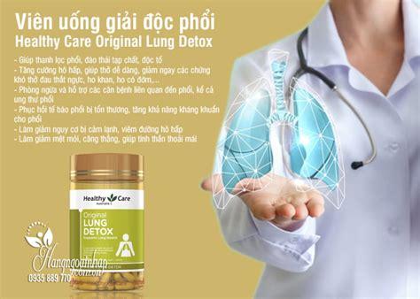 Thuốc Giải độc Phổi Healthy Care Original Lung Detox 180