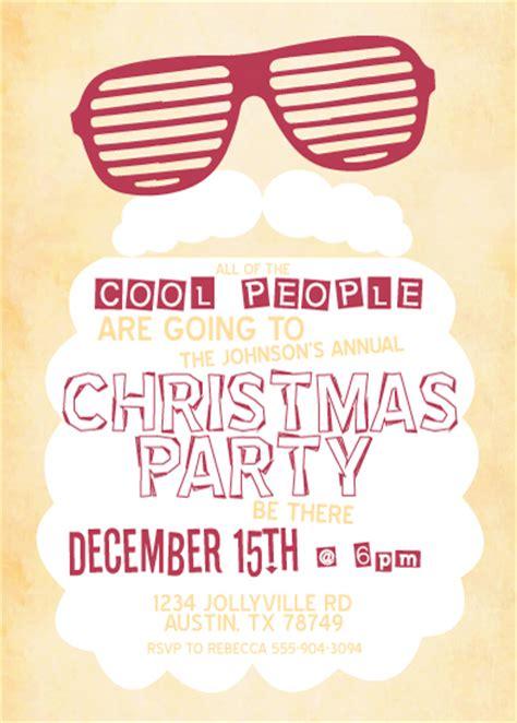 party invitations cool santa  mintedcom