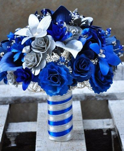 silver blue starry starry night wedding bouquet wedding
