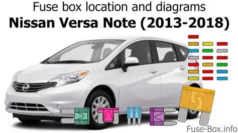 Fuse Box Location Diagrams Nissan Versa Note