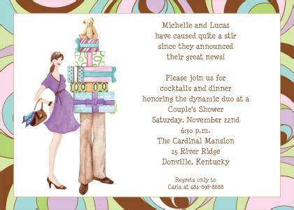 couple baby shower invitation wordings dolanpedia