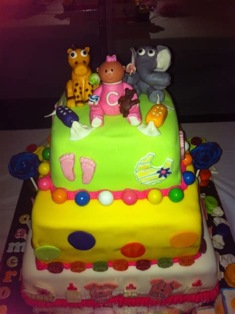 Candy Theme Baby Shower Cake Cakecentralcom