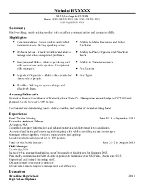 Army Rotc Resume by Us Army Rotc Cadet Resume Exle Us Army Cadet Command Negaunee Michigan