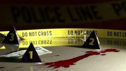 Investigation Police Crime Bloodstains Line Footage