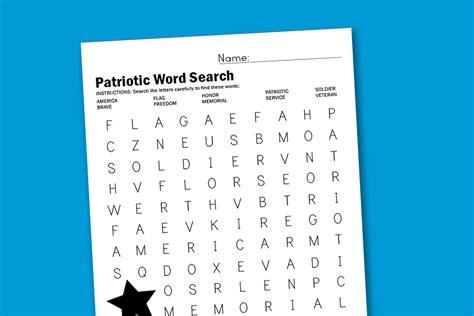 patriotic word search paging supermom