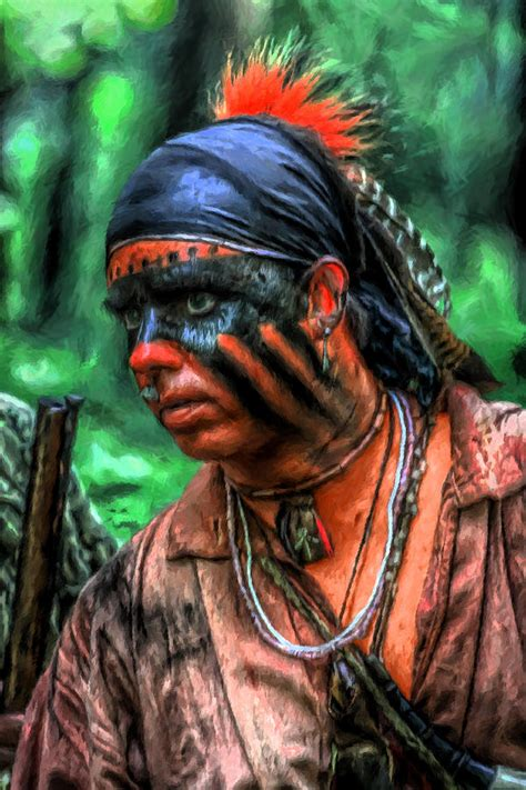 French and Indian War Indian Warrior Digital Art by Randy ...