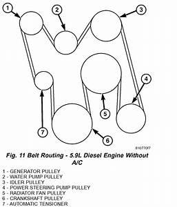 Need The Belt Diagram For Dodge Ram 2500