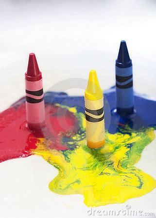 melting crayons stock photography image