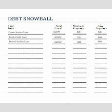 Snowball Debt Worksheet  Saving $$$ Pinterest