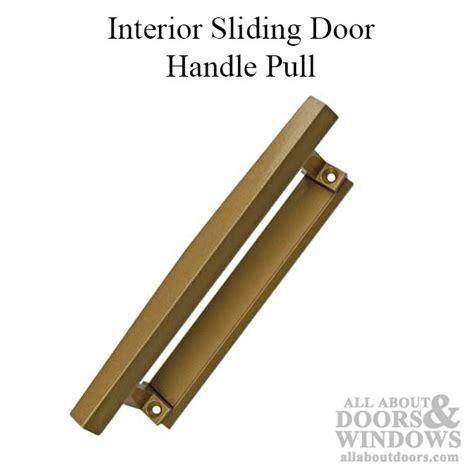 pella sliding door handle interior pull bronze