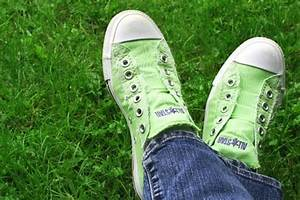 Lime Green Converse Without laces