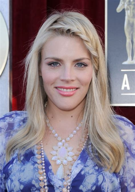 long blond hairstyle  braided bangs busy philipps