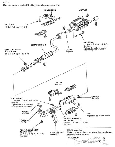 Honda Civic Exhaust System Diagram Decor