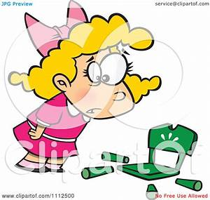 Clipart Girl Goldilocks With A Broken Chair - Royalty Free ...