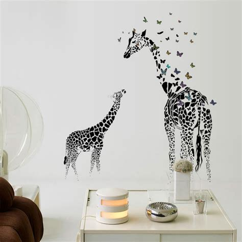 large giraffe wall sticker removable vinyl wall decals