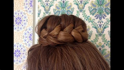 lace braided bun tutorial hairandnailsinspiration youtube