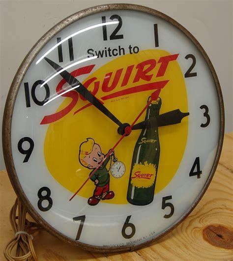 lighted clocks for sale 50s vintage soda pop light up clock sign lighted ebay