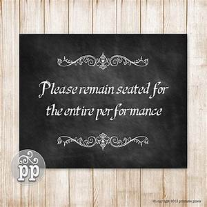 Please remain seated bathroom wall decor funny quote
