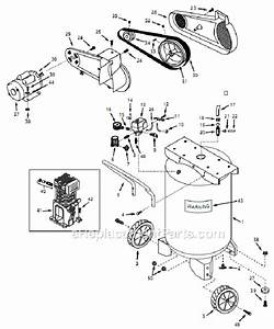 Campbell Hausfeld 58-7870-0 Parts List And Diagram