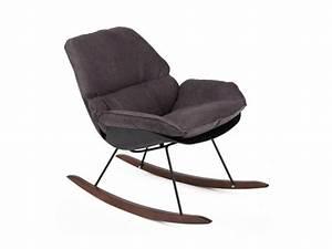 Rocking Chair Tissu : rocking chair vintage en tissu buddy couleur noir vente de tous les fauteuils conforama ~ Teatrodelosmanantiales.com Idées de Décoration